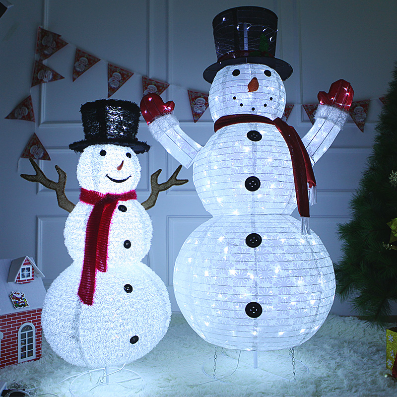 Hot Selling Newest 2019 Christmas, Big Glowing Santa Claus Place Hotel, Decorations, Christmas Window Decoration, Snowman.