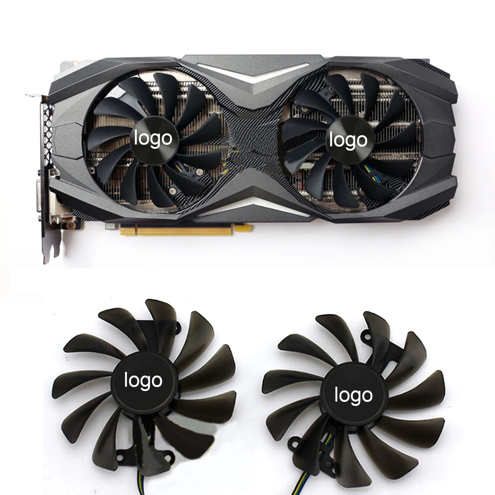 95mm Cooling Fan for ZOTAC GeForce GTX 1080 1070 AMP Edition GPU Graphics Card image