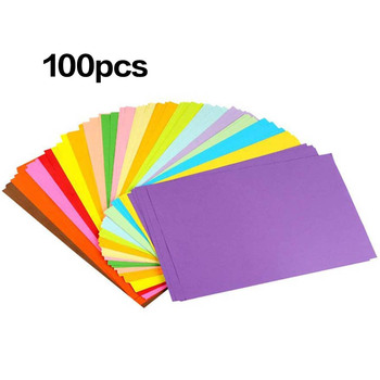 100Pcs Colored A4 Copy Paper Crafting Decoration Paper 10 Different Colors for DIY Art Craft pd045 100pcs 5 5 inch total colored vintage lace round green paper doilies paper scrapbooking craft doily paper mats paper pads