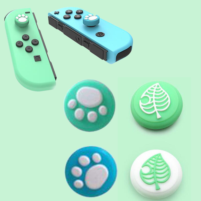 Animal Crossing Cute Cat Paw Thumb Stick Grip Cap Joystick Cover For Nintend Switch Lite NS Joy-Con Controller Thumbstick Case