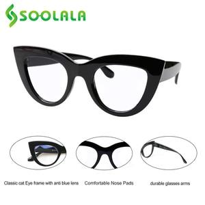 Image 4 - SOOLALA 4 Pairs Anti Blau Licht Katze Auge Lesebrille Frauen Brillen Gafas De Lectura + 1,0 1,25 1,5 1,75 zu 4,0