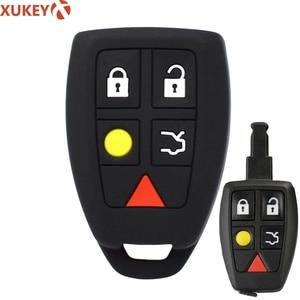 Image 1 - Coque de protection pour clé télécommande, sans clé, en peau, pour Volvo C30, C70, S40, V50 housse de clefs en Silicone 2004, 2007 Fob
