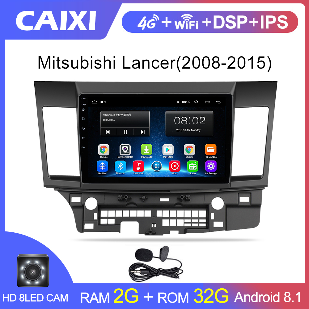 Android 8.1 Car Radio Multimedia player for Mitsubishi lancer 2008 2009 2010-2016 video audio 2 din 10 inch car dvd player image