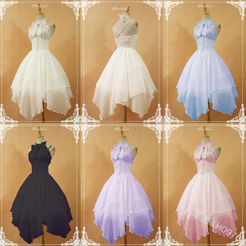 Купить милое платье принцессы в стиле «лолита» винтажное с бантом и