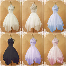 Sweet princess lolita dress vintage bowknot cross strap high waist halter victorian dress kawaii girl gothic lolita jsk loli cos(China)