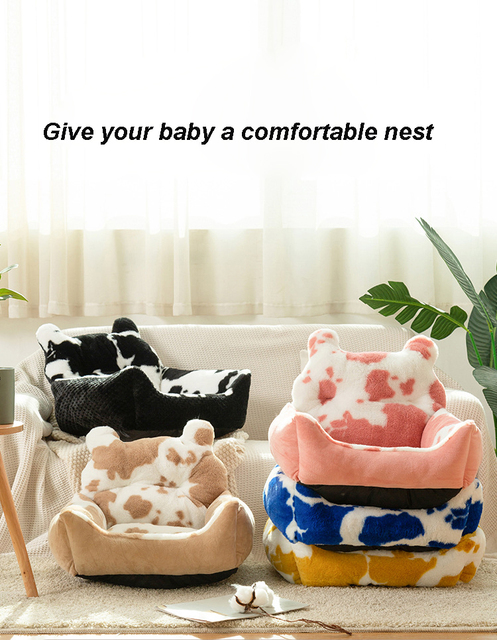 Washable Super Soft Velvet Pet Nest - Cushion Sleeping Bag  1