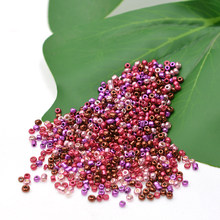 NEW 2mm Purple Rose Red Metal 1000pcs/Lot Multicolor Charm Czech Glass Seed Beads DIY for Jewelry Making Wholesale