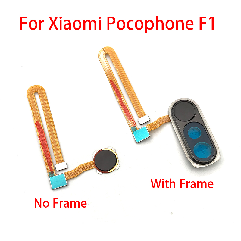 New Fingerprint Sensor Scanner For Xiaomi PocoPhone F1 Home Return Touch ID Key Menu Button Flex Cable Ribbon