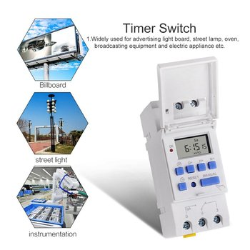 цена на AC 12~220V Weekly 7 Days Programmable Digital Time Switch Relay Timer Control Din Rail Mount for Electric Appliance