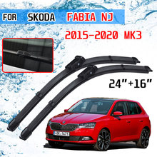 For Skoda Fabia 3 NJ 2015 2016 2017 2018 2019 2020 MK3 Accessories Car Front Windscreen Wiper Blades Brushes Cutter Auto Parts
