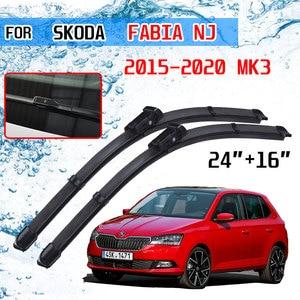 Image 1 - Para skoda fabia 3 nj 2015 2016 2017 2018 2019 2020 mk3 acessórios do carro frente windscreen limpador lâminas escovas cortador peças de automóvel