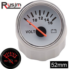 Gauge Marine Voltmeter Boat Auto-Replacement-Parts Motorcycle Volts Waterproof 52mm Red