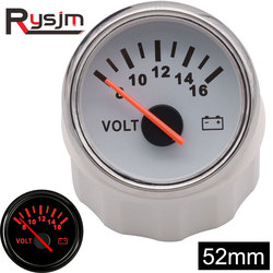 52mm Volt Meter Gauge 8-16 Volts 16-32V Boat Marine Voltmeter Auto Replacement Parts Gauges Motorcycle Red Backlight Waterproof