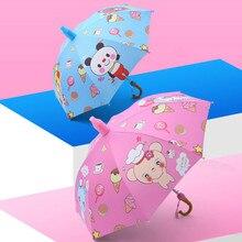 Children's Umbrella Boy Girl Cartoon Baby Kindergarten Pupils Sunshade Sunshade Umbrella Waterproof Cover Long Handle Umbrella