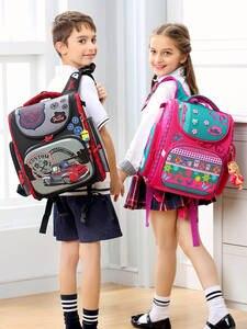 Delune Satchel School-Bags Orthopedic 1-3-Grade Children Mochila-Infantil Boys Brand