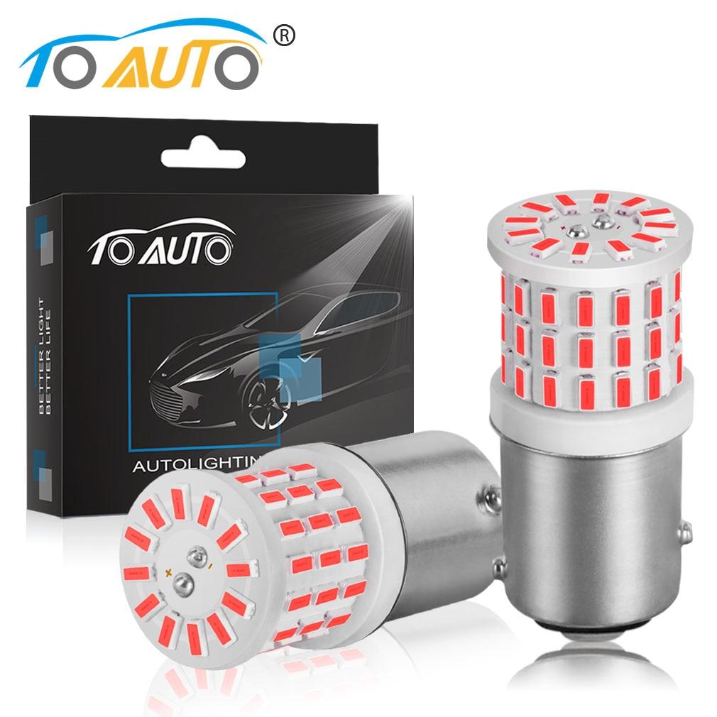 2 adet BAY15D 1157 P21/5W LED P21W 1156 BA15S LED ampuller araba dönüş sinyali ters fren lambaları R5W 57SMD 3014 otomatik lamba 12V