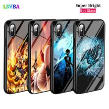 Black Cover Anime Fairy Tail for iPhone X XR XS Max for iPhone 8 7 6 6S Plus 5S 5 SE Super Bright Glossy Phone Case black cover japanese samurai for iphone x xr xs max for iphone 8 7 6 6s plus 5s 5 se super bright glossy phone case