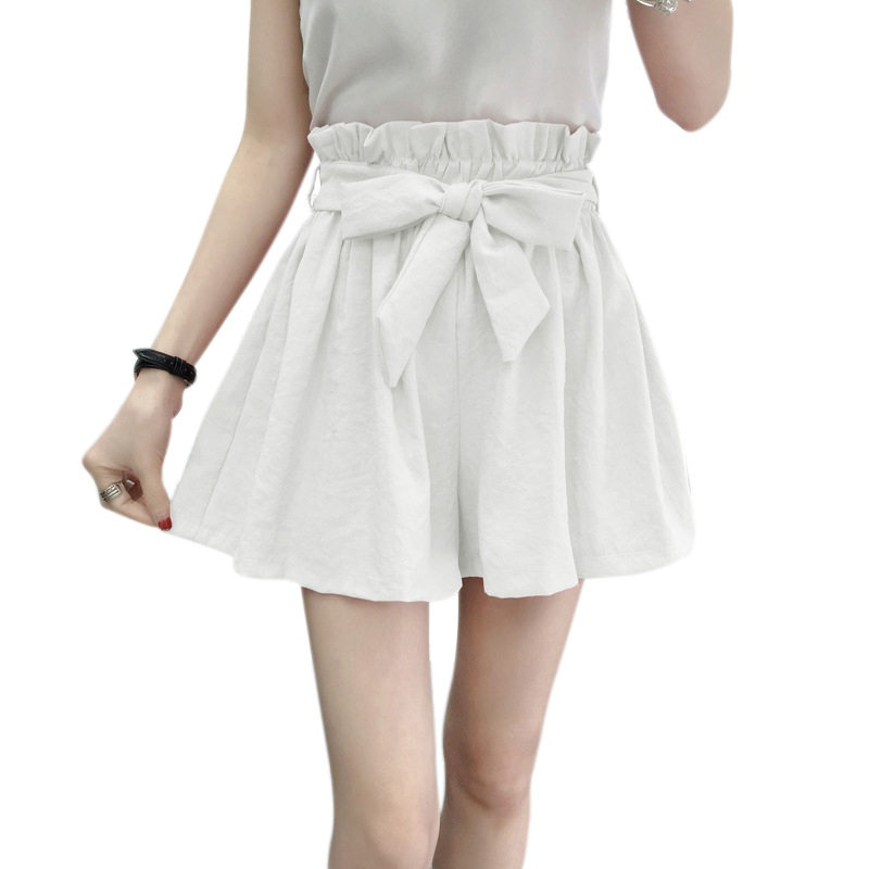 Lady Women Wide Legs Shorts Summer Casual Shorts Beach High Waist Shorts Hc