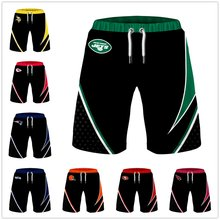 Usa size men football shorts summer 3d digital printing breathable