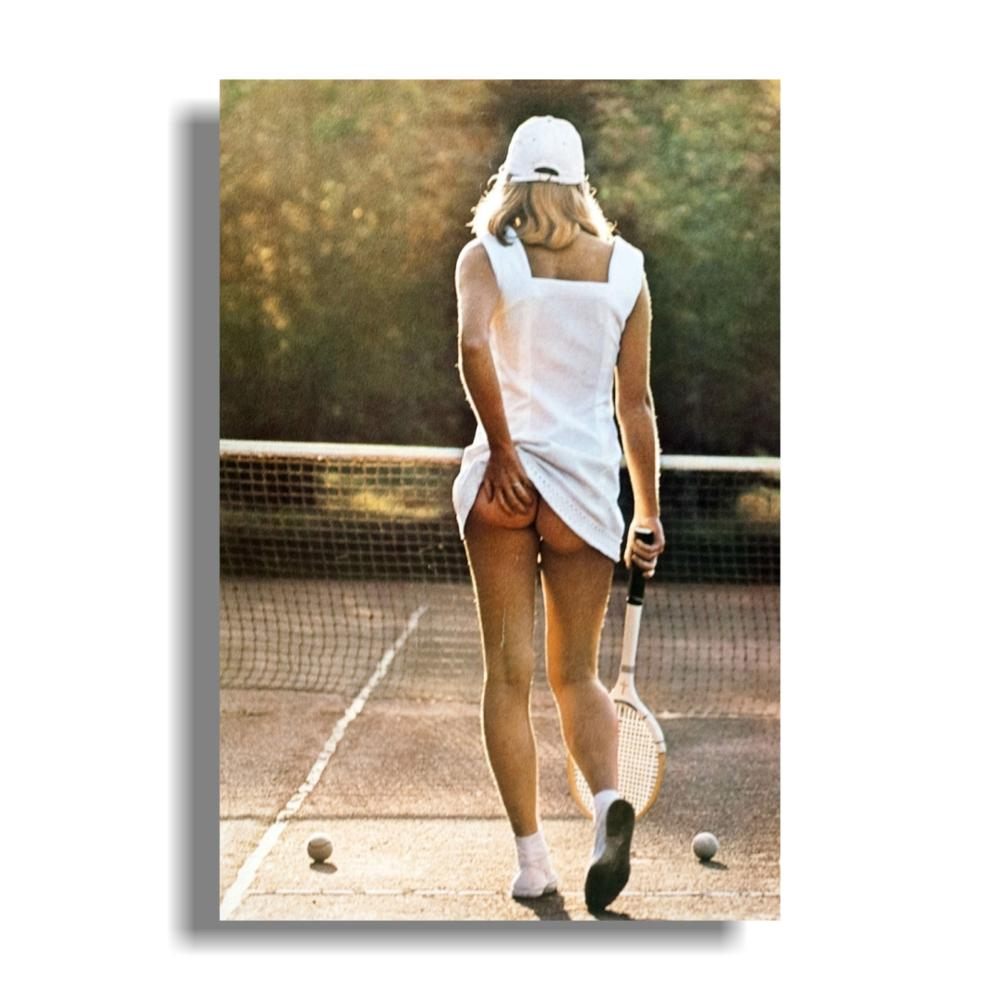 Tennis Girl Poster Poster Print, 24x36 Bodybuilding Motivational Art Silk Poster Print Fitness Inspirational Picture For Room