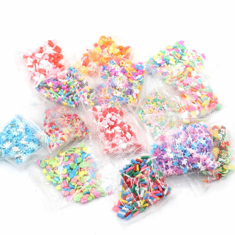 5g/Bag Hollow Slices Addition Charms For Fluffy Slime DIY Supplies Polymer Clear Clay Sprinkles Toys For Children Kids