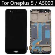For Oneplus 5 A5000 CD Display + Touch Screen With Frame Digitizer Assembly Replacement FOR One Plus 5  LCD цена в Москве и Питере