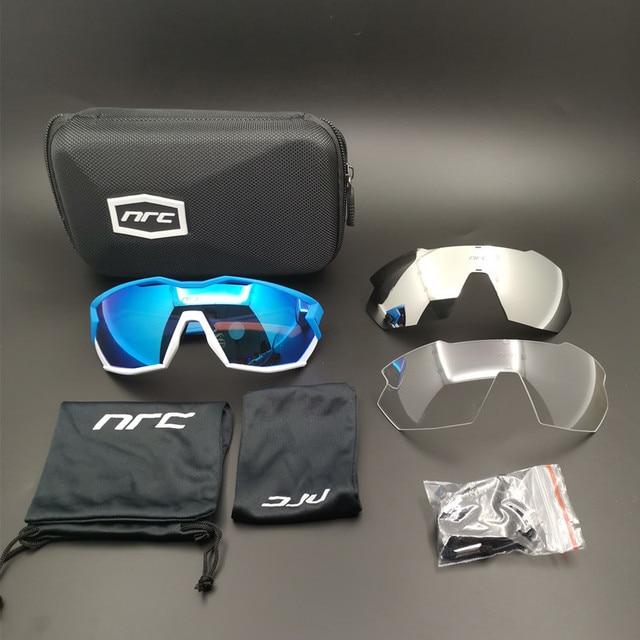 brand 2019 NRC P-Ride Photochromic Cycling Glasses man Mountain Bike Bicycle Sport Cycling Sunglasses MTB Cycling Eyewear woman 5