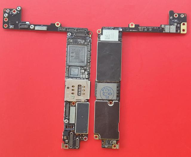 For iPhone 7P 7 Plus 7+ 7Plus Drilled Remove CPU Baseband 32GB 128GB iCloud Locked Motherboard Swap CNC board Mainboard