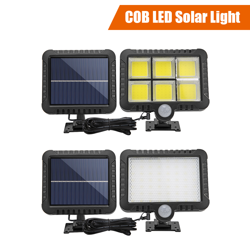 100/120 COB LED Solar Light Outdoor Lighting Garage Security Light PIR Motion Sensor Garden Decoration Solar Wall Lamp Spotlight