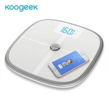 جهاز Koogeek معتمد من إدارة الغذاء والدواء مقياس الصحة الذكي يعمل بالبلوتوث ومزامنة الواي فاي يقيس كتلة عظم العضلات BMI BMR ووزن الجسم الحشوي للدهون