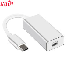 Newest Thunderbolt 3 USB C to Mini DisplayPort Converter 4K@60HZ Type C to Mini DP Adapter for MacBook Hot sale!