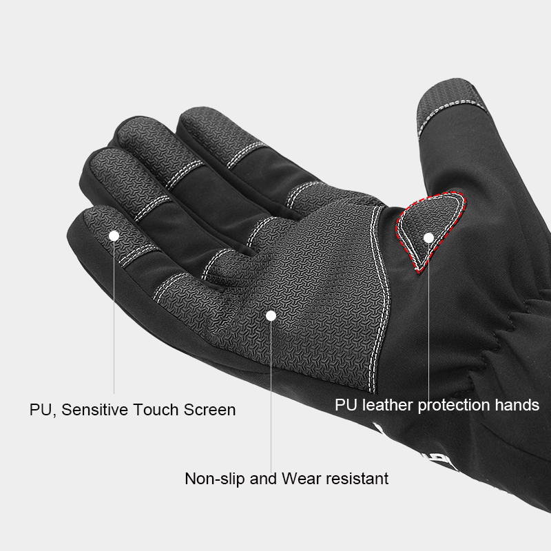 Cycling winter thermal gants coupe-vent mtb full fingers palm gant de protection