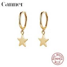 Женские серьги гвоздики star charm серебро 925 пробы золотой