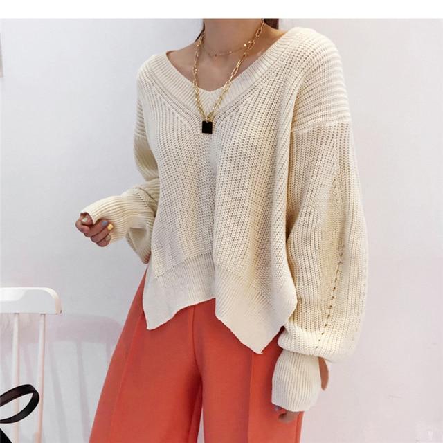 Купить вязаные свитера для женщин осень wnter новые корейские элегантные картинки цена