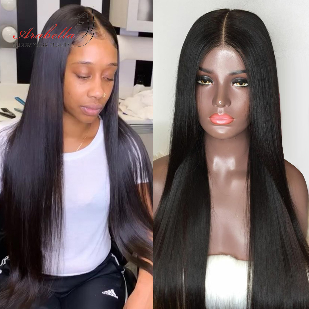 Straight Hair 2X6 Lace Closure Wig 180% Density Pre Plucked With Baby Hair Natural Hair Line Arabella  Hair Wigs 1