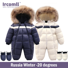 New Russia Winter Infant Baby Boy Girl Romper Thicken Baby Snowsuit  Windproof Warm Jumpsuit For Children Clothes Toddler Outfit newborn girl winter romper baby boy duck down jumpsuit children s romper kids warm snowsuit overall toddler infant thick outwear