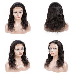 Image 4 - Liddy خصلات الشعر المستعار الإنسان 4x4 الدانتيل إغلاق شعر مستعار للنساء السود الجسم موجة الباروكات غير ريمي اللون الطبيعي 150% الكثافة الباروكات