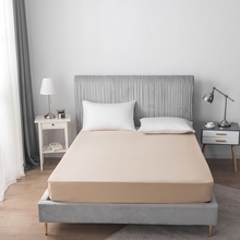 Modern Simple Solid Color Bed Sheet Fitted Sheet Mattress Cover All Size Cotton High Quality Soft Comfot With Elastic Bed Sheet solid fitted dress with choker