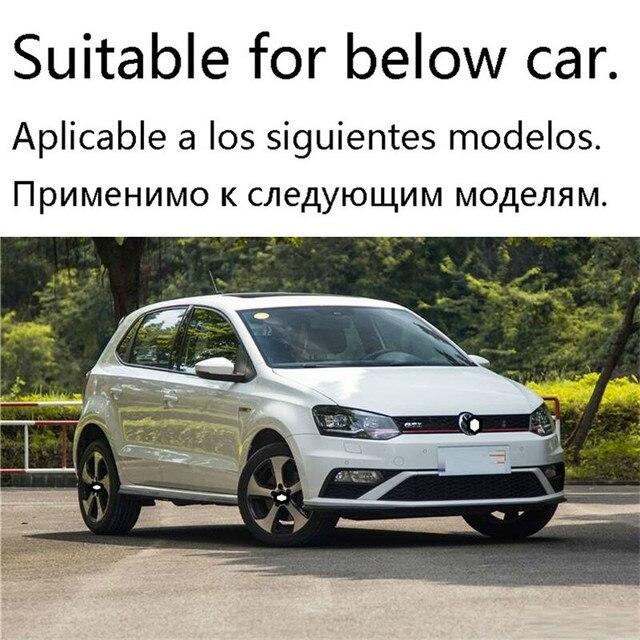 Pièces accessoire Automovil Auto décoration arrière diffuseur Tunning avant style lèvre voiture pare-chocs 14 15 16 17 18 pour Volkswagen Polo