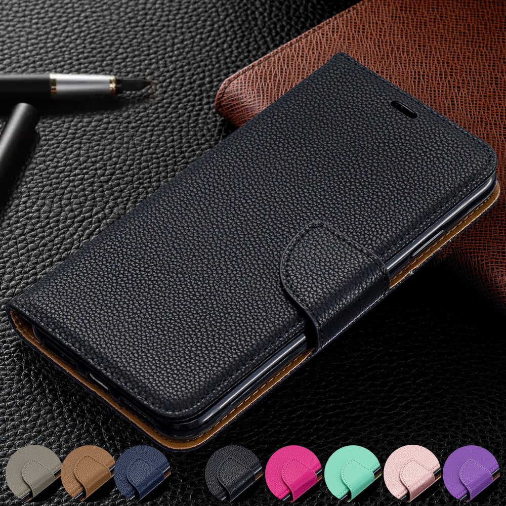 Nokia 2.4 Phone Case Green Shockproof Litchi Pattern Premium Leather Folio Flip Wallet Phone Cases Soft Gel TPU Bumper Full Protective Cover for Nokia 2.4 with Magnetic Clasp Stand Card Slots