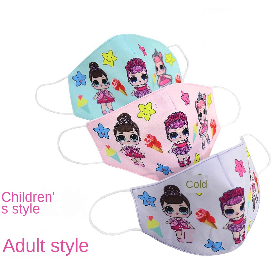 NEW L.O.L. SURPRISE! Half Muffle Face Mask Adult Kids Cottons Dustproof Cartoon Woman Men Lol Doll  Mouth Masks Mouth For Gift