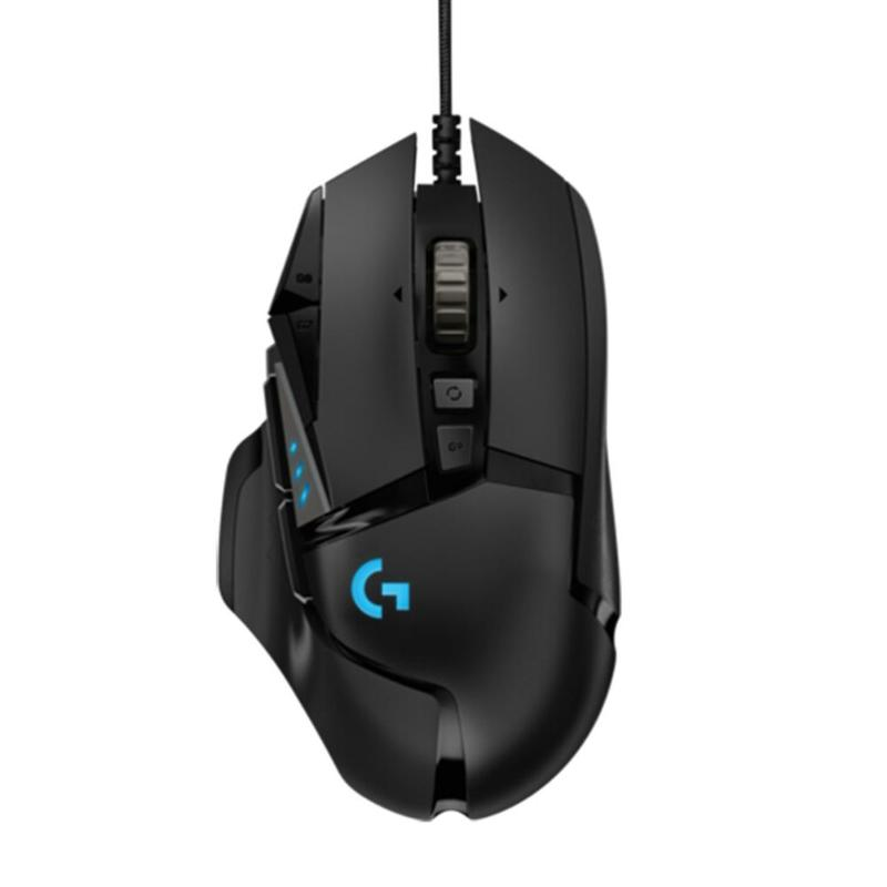 Logitech g502 herói mestre gaming mouse programável 16000 dpi rgb backlight jogo mouse gamer ratos para pubg lol desktop computador portátil