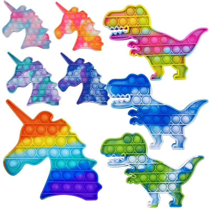 MSXF его Непоседа куб игрушки Единорог пуш-ап MSXF пузырь сенсорная игрушка для аутистов потребности мягкие игрушки для снятия стресса для взро...