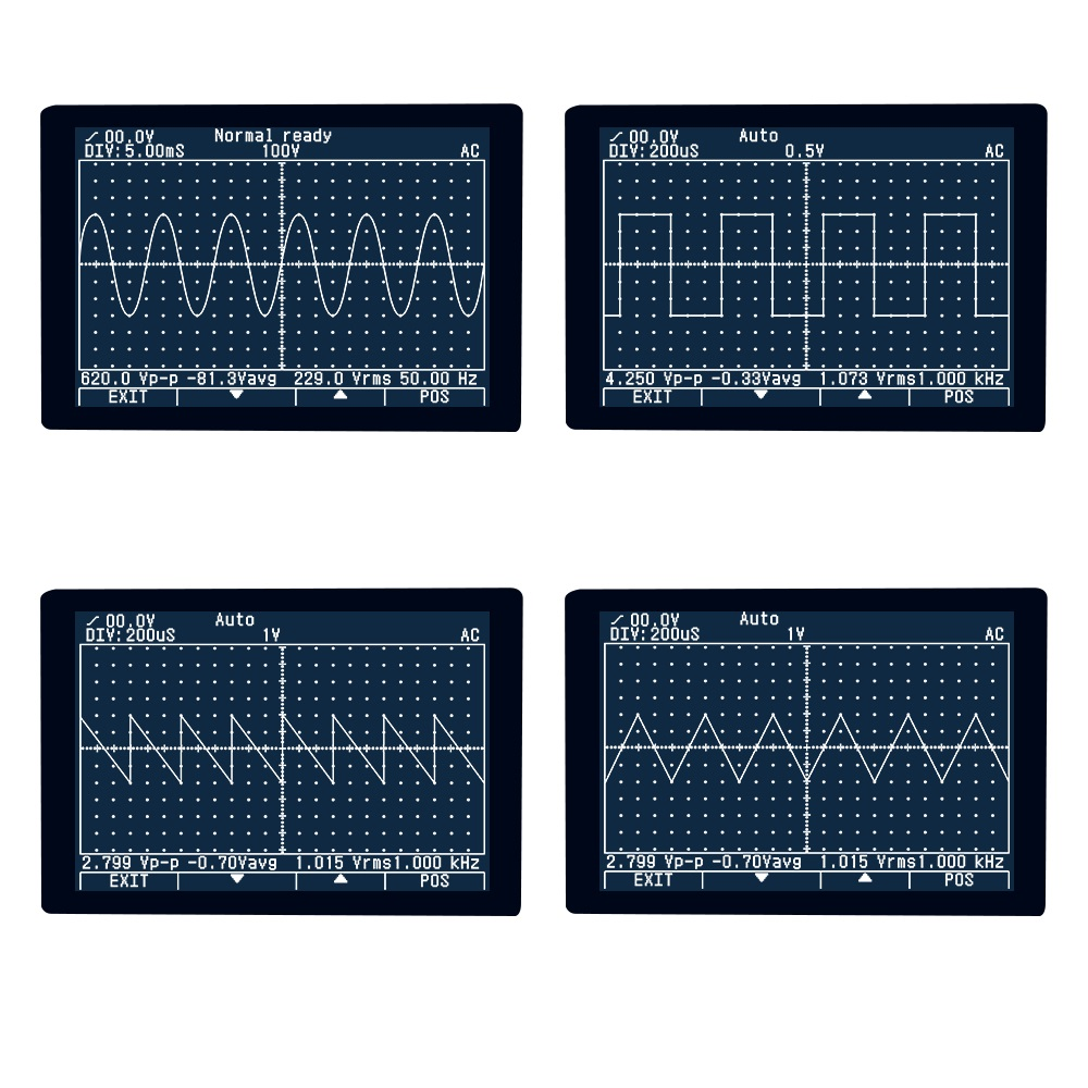 Multímetro de osciloscopio MUSTOOL MDS8207 inteligente 2in1 Digital 40MHz 200 Msps/S 6000 cuenta prueba de osciloscopio verdadero RMS - 6