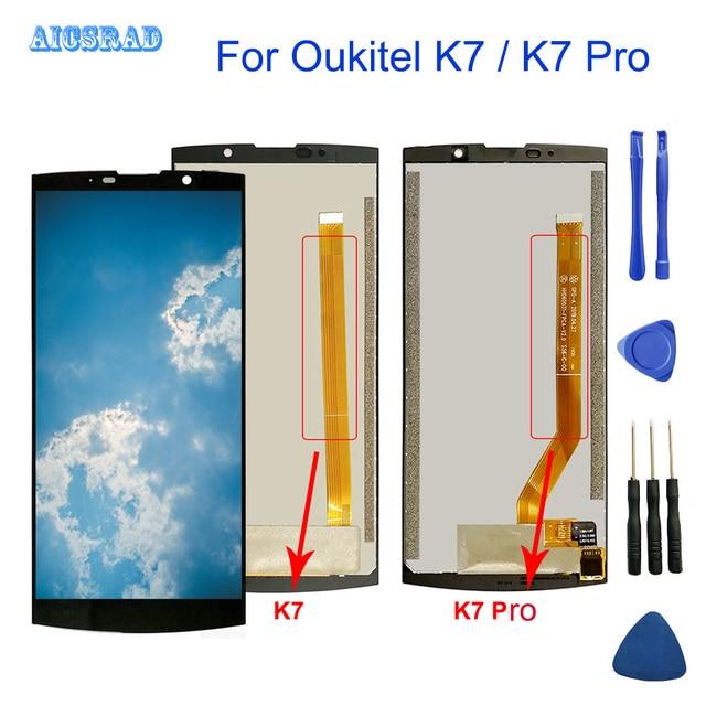 עבור OUKITEL K7 כוח LCD תצוגת מסך מגע 100% מקורי נבדק LCD Digitizer זכוכית לוח עבור OUKITEL K7 / K7 פרו Smartphone