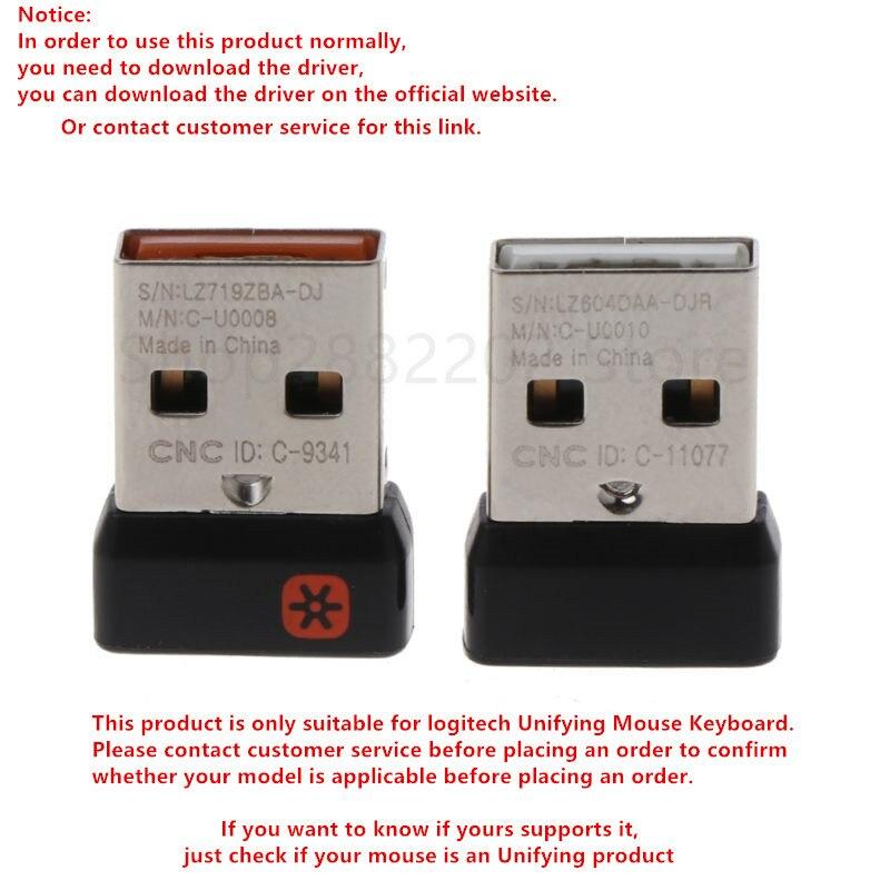 Adaptateur USB unificateur de récepteur de Dongle sans fil pour clavier Logitech Mouse Connect 6 appareil pour MX M905 M950 M505 M510 M525 Etc.