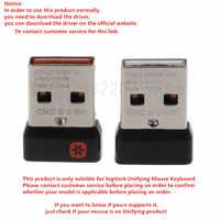 Receptor Dongle inalámbrico adaptador USB Unifying para teclado Logitech Mouse, conectar 6 dispositivos para MX M905 M950 M505 M510 M525, Etc.