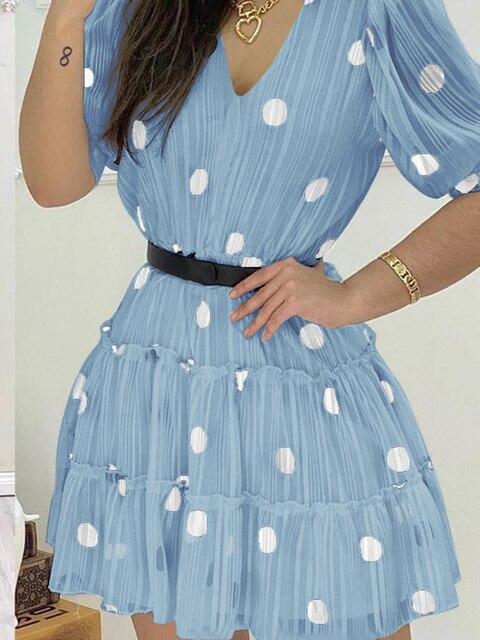 2020 женское модное элегантное повседневное мини платье с v фотография