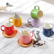 Creative color glaze belly cup candy ceramic mug High temperature resistance