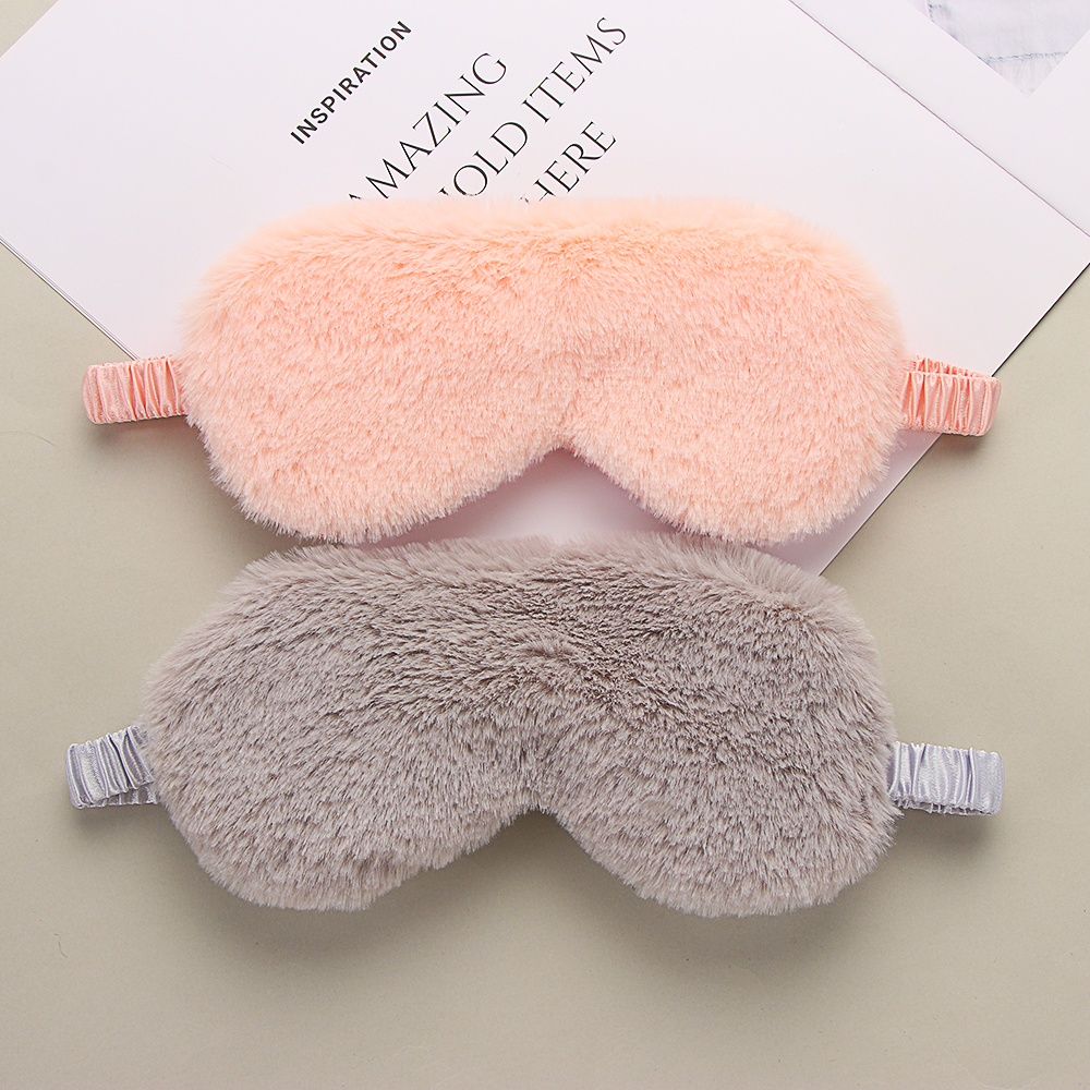 Soft Plush Eye Masks Cute Love Cloud Eye Cover Rabbit Plush Sleeping Mask Eyepatch Cartoon Nap Eye Shade Blindfold Super Soft
